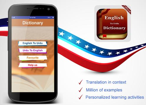 English To Urdu & Urdu English Offline Dictionary poster