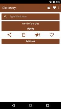 English to Turkish Dictionary and Translator App poster