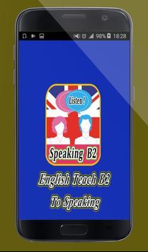 English Teach B2 to Speaking poster