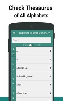 English to Tagalog Dictionary screenshot 3