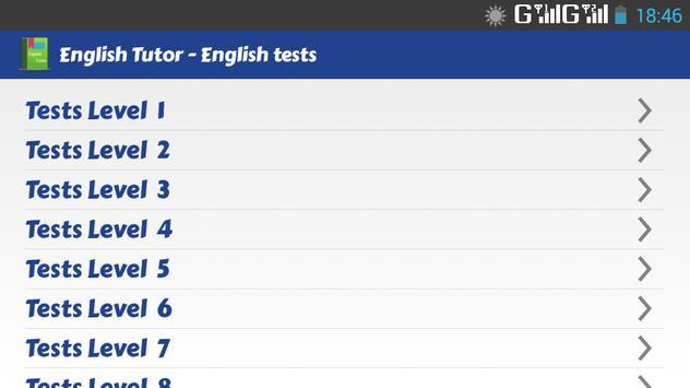English Tests - English Tutor apk screenshot