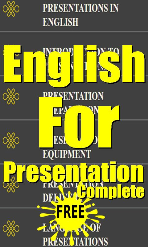 English For Presentation poster