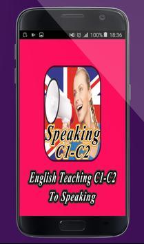 English Teaching C1-C2 To Speaking poster