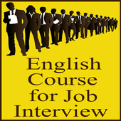English course for job interview icon