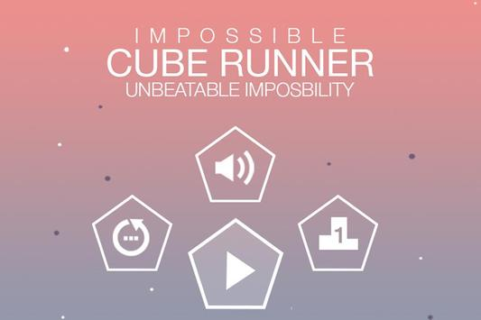 Impossible cube runner poster