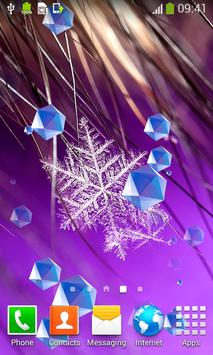 Snowflake Live Wallpapers apk screenshot
