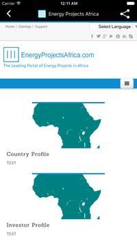 Energy Projects Africa apk screenshot