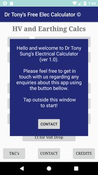Dr Tony's Free Electrical Calculator poster