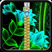 Glow Flower Zipper Lock Screen icon