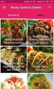 Resep Seafood Sederhana poster