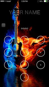 Guitar Keypad Lock Screen apk screenshot