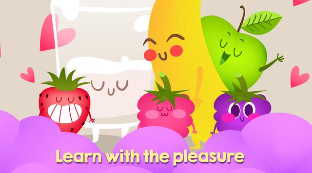 Funny Fruits - teach fruits easiest and funny way poster