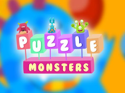 Cute Monsters! puzzle game for kids screenshot 5
