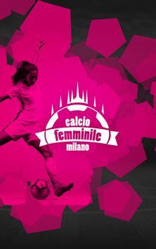 Calcio Femminile Milano poster