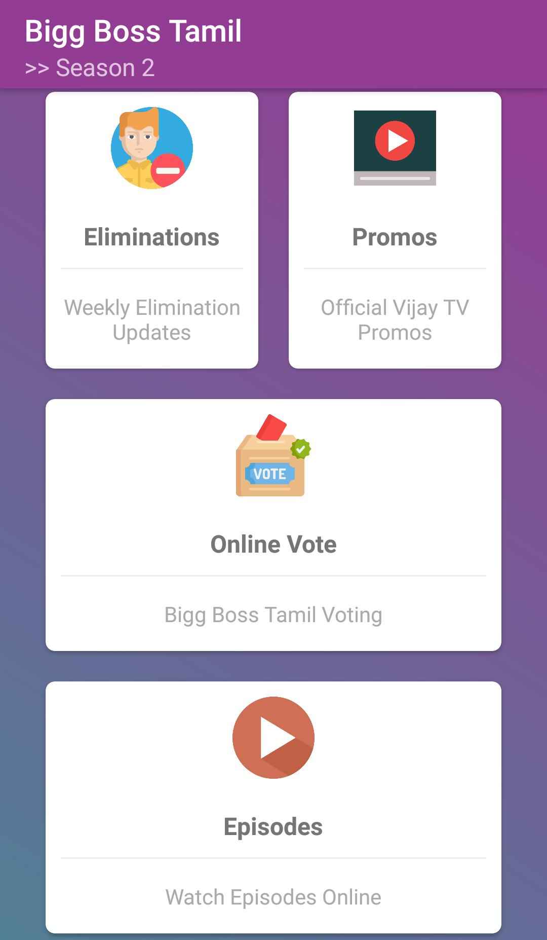 Bigg Boss Tamil 2 - Live Updates | Episodes | Vote for