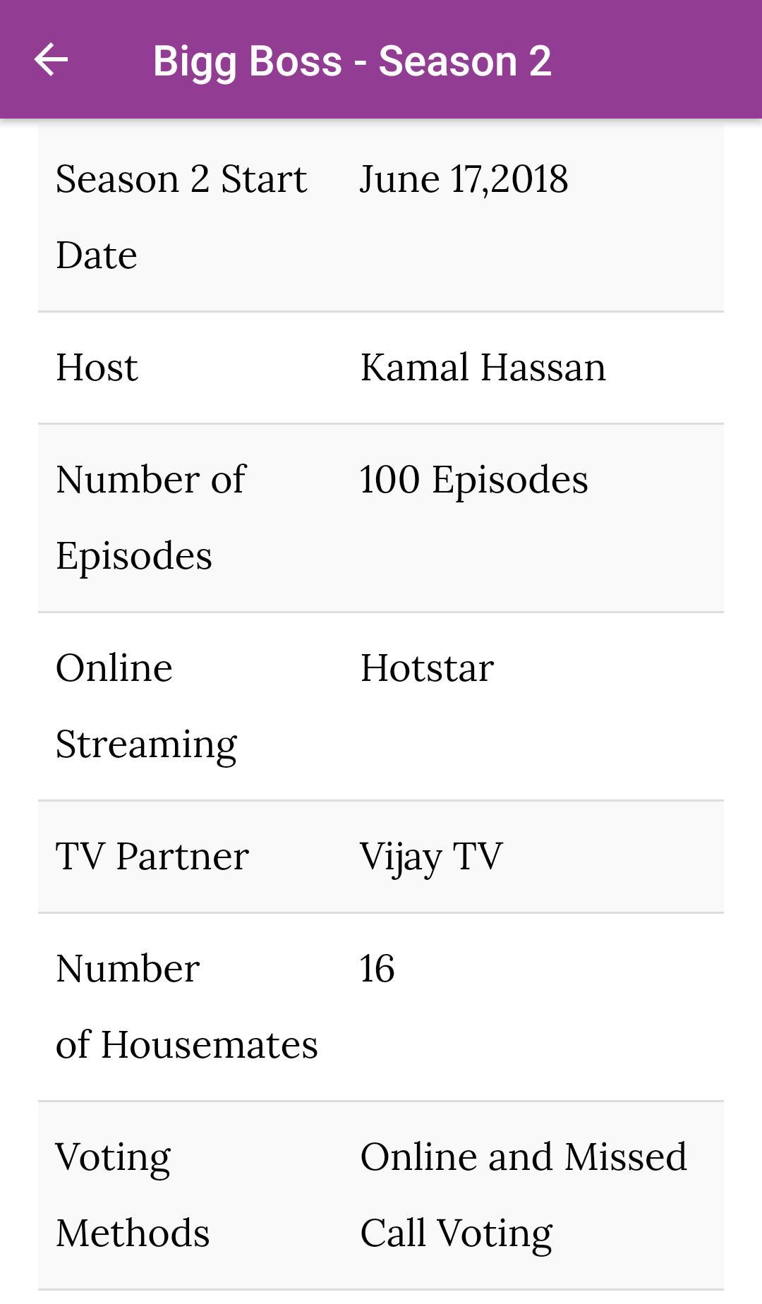 Bigg Boss Tamil 2 - Live Updates | Episodes | Vote for
