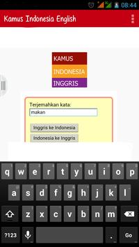 Kamus Indonesia Inggris apk screenshot