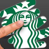 Scratch Logo Quiz. Challenging brain puzzle icon