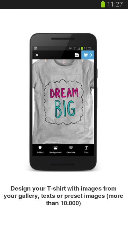 3ce717cdc Diseña e imprime tu camiseta for Android - APK Download