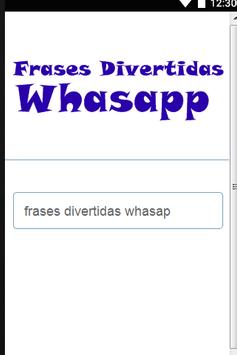 Frases Divertidas Whasapp poster