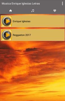 Musica Enrique Iglesias Letras Nuevo poster