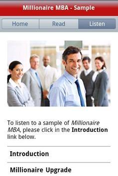 Millionaire MBA - Free Sample apk screenshot