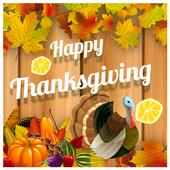 Happy Thanksgiving greeting HD icon