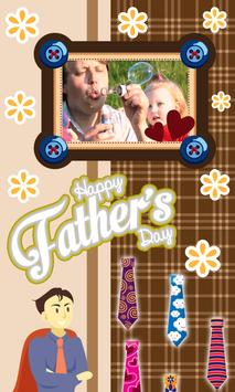 Happy Fathers Day photo frames poster