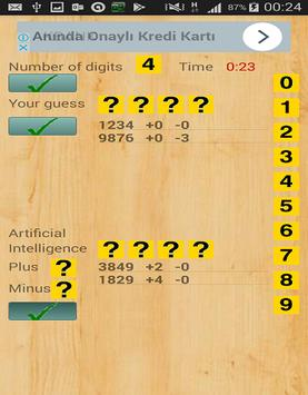Mastermind with numbers apk screenshot