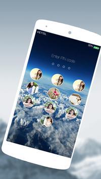 Photo Keypad Lockscreen IOS 9 apk screenshot