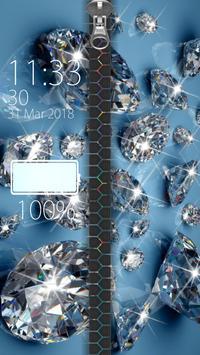 Diamond Zipper Lock screenshot 2