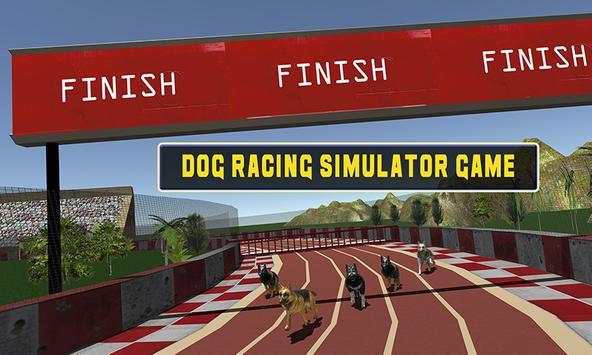 Crazy dog racing poster