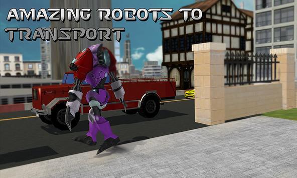 Robot Transporter Truck apk screenshot