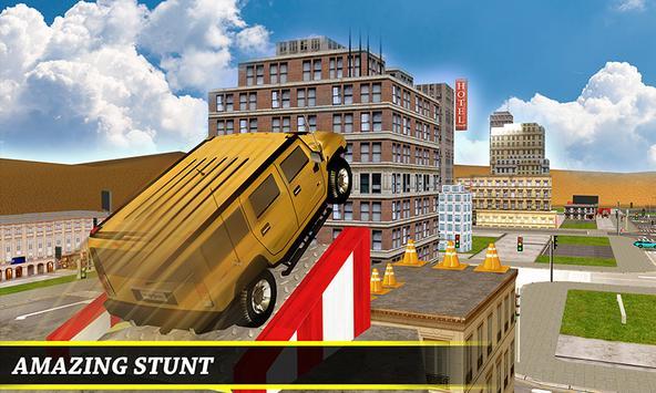 Roof top car parking 3D poster