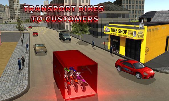 Racing Bike Truck Transport apk screenshot