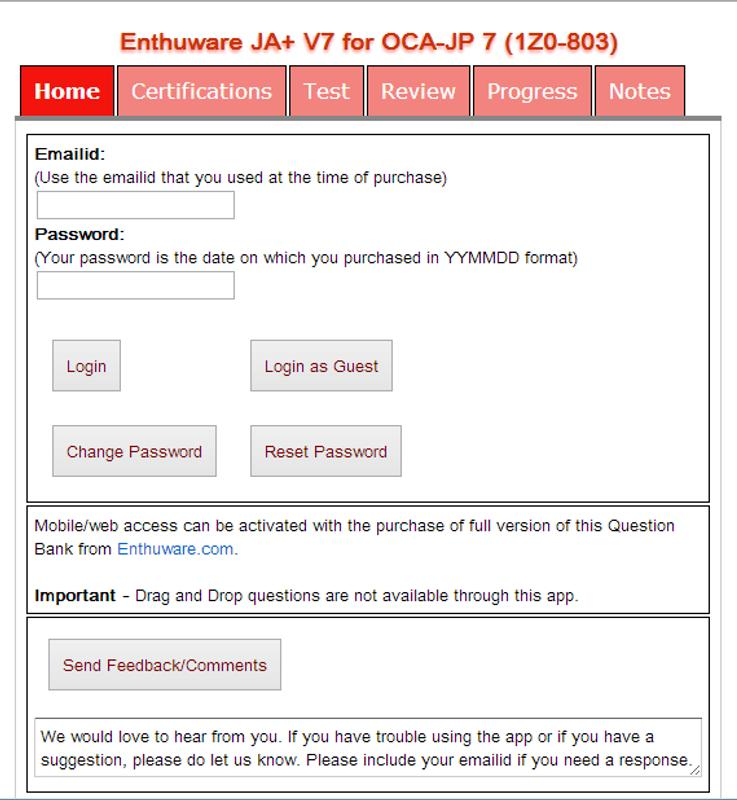 OCAJP SCJP JAVA Certification APK डाउनलोड - एंडरॉयड ...