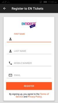 Entickets screenshot 2