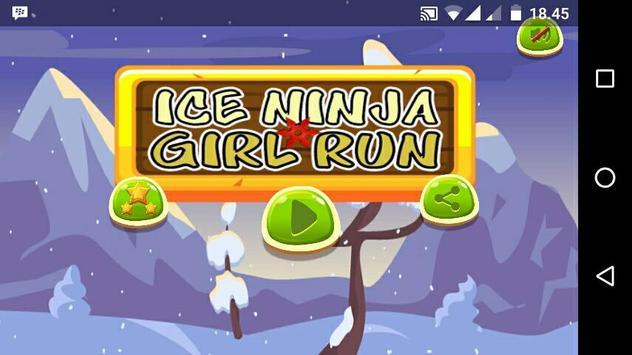 Ice Ninja Girl Run poster