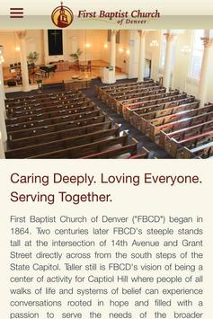 First Baptist Church of Denver poster
