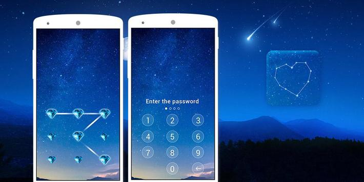 Applock theme Blue Sky apk screenshot