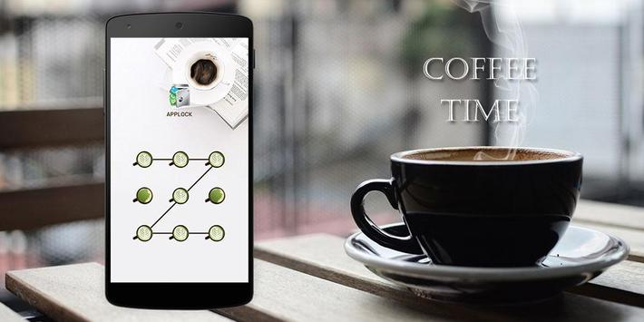 AppLock Theme Coffee Time apk screenshot