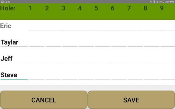 Golf Scorecard Buddy screenshot 8