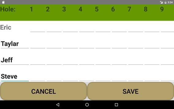 Golf Scorecard Buddy screenshot 11