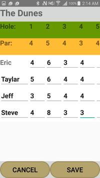 Golf Scorecard Buddy screenshot 1