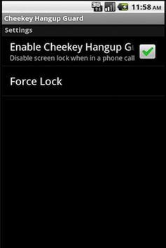 Cheekey Hang Up Guard FREE! apk screenshot