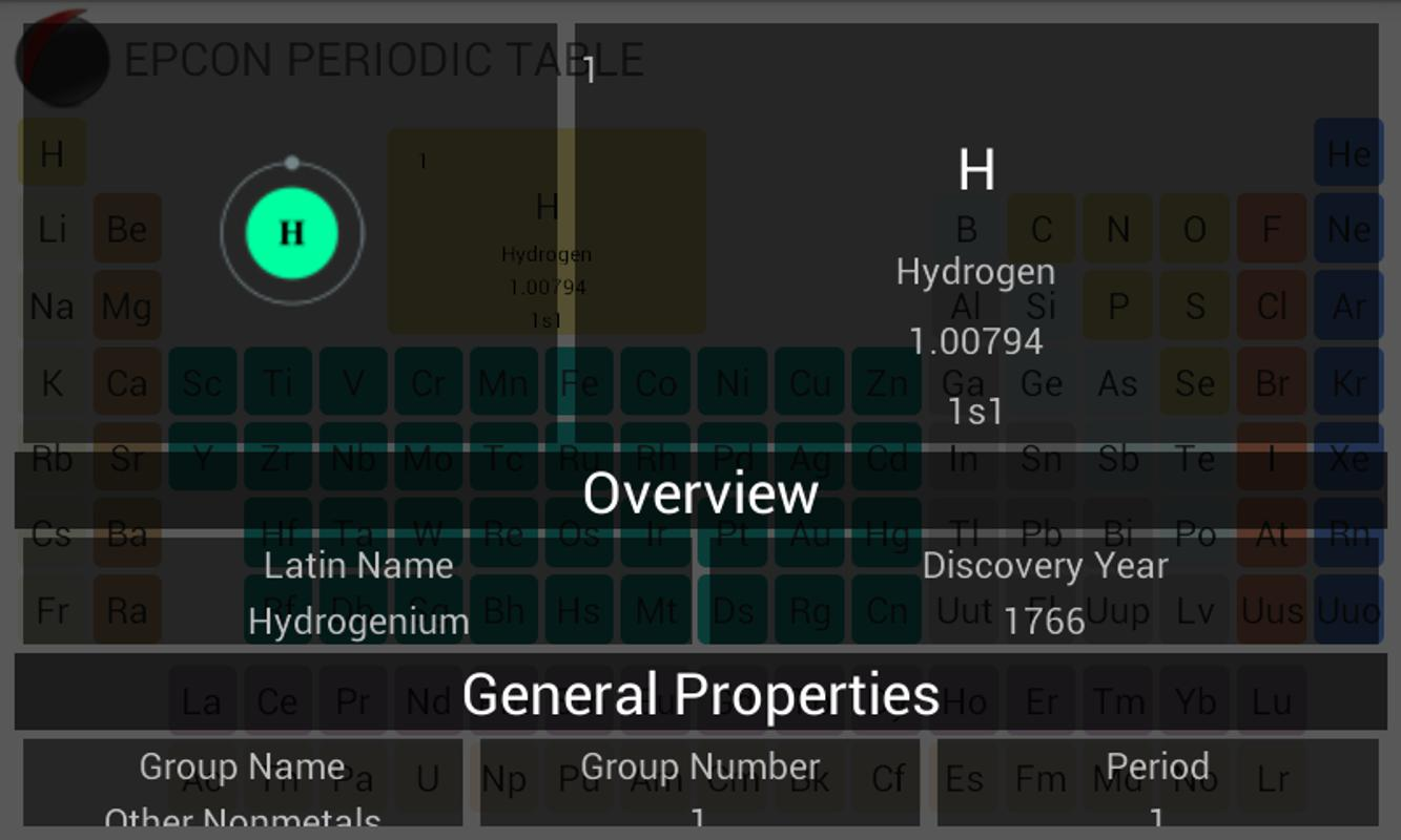 Periodic table apk download free education app for android periodic table poster periodic table apk screenshot urtaz Choice Image