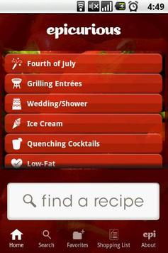 Epicurious Recipe App poster