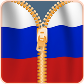 Russia Flag Zipper Screenlock icon