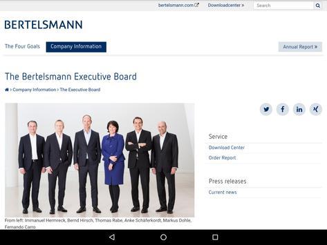 Bertelsmann Annual Report 2016 apk screenshot