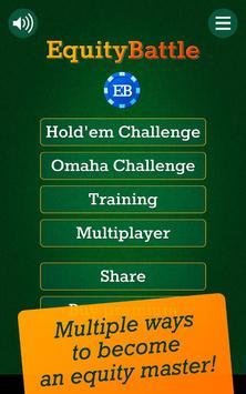Equity Battle - Poker Training poster